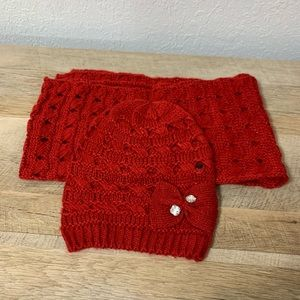 Red Apt 9 scarf and beanie set brand new